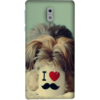 FUSON Designer Back Case Cover For Nokia 3 (Dog Baby Coffee Breakfast Tea Best Morning Loyal )