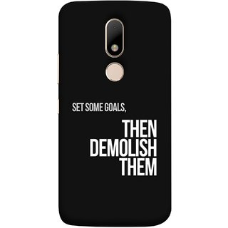 FUSON Designer Back Case Cover for Motorola Moto M (Motivational Inspirational Saying Quotes Words Big)