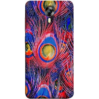 FUSON Designer Back Case Cover for Micromax CanvasNitro4G E371 (Nice Colourful Long Peacock Feathers Beak)