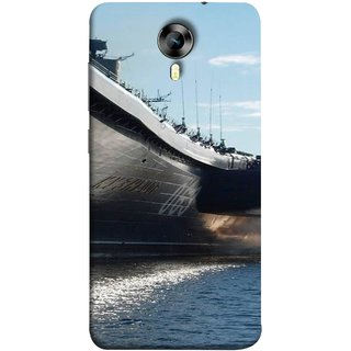 FUSON Designer Back Case Cover for Micromax CanvasNitro4G E371 (Indian Submarine Shoots Ship With Missile Training )