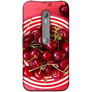 FUSON Designer Back Case Cover for Motorola Moto X Style :: Moto X Pure Edition (Plump Dark Red Farm Fresh Very Tasty )