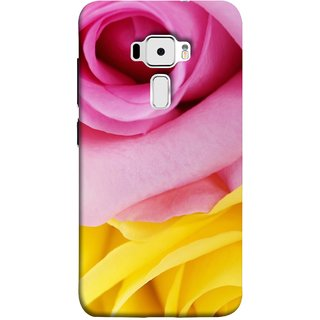FUSON Designer Back Case Cover For Asus Zenfone 3 ZE520KL (5.2 Inches) (Pink Red Baby Yellow Shades Friendship Flowers Roses)