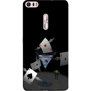 FUSON Designer Back Case Cover For Asus Zenfone 3 Ultra ZU680KL (6.8 Inch Phablet) (Drink Wings To Cards Ice Party Time Friends Game )