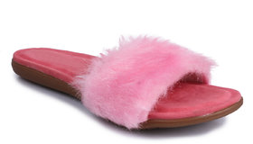 Do Bhai Women's Pink Slip On Flats