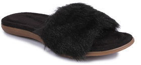Do Bhai Women's Black Slip On Flats