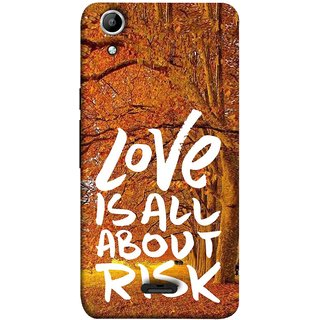 FUSON Designer Back Case Cover for Micromax Canvas Selfie 2 Q340 (Trees Prem Pyar To Badi Risk Hai Very Dangerous )