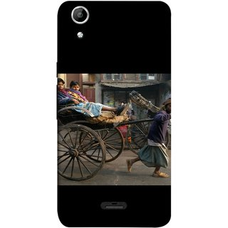 FUSON Designer Back Case Cover for Micromax Canvas Selfie 2 Q340 (Wheel Hay Cart Old Wagons Indian Cycle Rickshow)