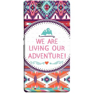 FUSON Designer Back Case Cover For Sony Xperia Z :: Sony Xperia ZC6603 :: Sony Xperia Z L36h C6602 :: Sony Xperia Z LTE, Sony Xperia Z HSPA+ (Colourful Wallpaper Best Quotes Bright Wall Design)