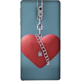 FUSON Designer Back Case Cover For Nokia 3 (Padlock Hanging With Steel Chains Hurt Tight)