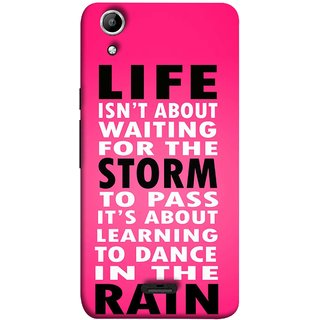 FUSON Designer Back Case Cover for Micromax Canvas Selfie 2 Q340 (To Pass Its About Learning To Dance In Rain Life)
