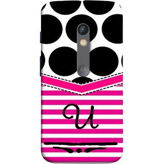 FUSON Designer Back Case Cover for Motorola Moto X Play (Beautiful Cute Nice Couples Pink Design Paper Girly U)