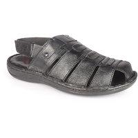 K2 Leather Men's Black Leather Sandals (105-30-BK)