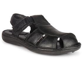 K2 Leather Men's Black Leather Sandals (105-02-BK)