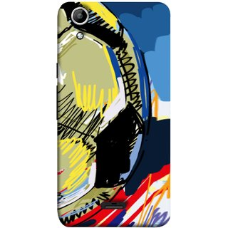 FUSON Designer Back Case Cover for Micromax Canvas Selfie 2 Q340 (Curved Straignt Acrylic Texture Lines Oil Paint Bright)