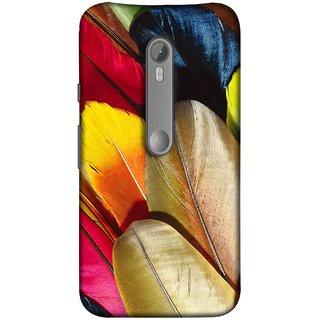 FUSON Designer Back Case Cover for Motorola Moto X Style :: Moto X Pure Edition (Yellow Balck Brown Golden Gold Silver Parrot Red )