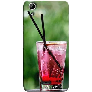 FUSON Designer Back Case Cover for Micromax Canvas Selfie 2 Q340 (Glass Full Of Cold Fresh Squeezed Watermelon Juice)