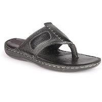 K2 Leather Men's Black Leather Sandals (K2-105-10-BK)