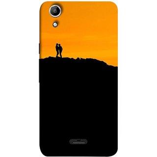 FUSON Designer Back Case Cover for Micromax Canvas Selfie 2 Q340 (Friends Family Lovers Lovebirds Standing Rocks Evening)