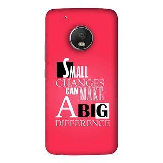 FUSON Designer Back Case Cover For Motorola Moto G5 Plus (Chote Chote Badlav Bada Farak Best Quotes Sayings)