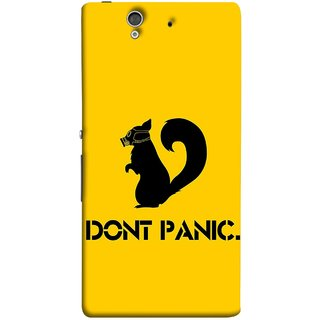 FUSON Designer Back Case Cover For Sony Xperia Z :: Sony Xperia ZC6603 :: Sony Xperia Z L36h C6602 :: Sony Xperia Z LTE, Sony Xperia Z HSPA+ (Never Panic Stay Cool And Solve Relax Always)