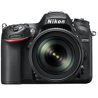Nikon D7200 24.2 MP Digital SLR Camera  Black  with AF S DX 18 200mm VR2 Kit Lens,16 Card and Carry Case DSLR Cameras