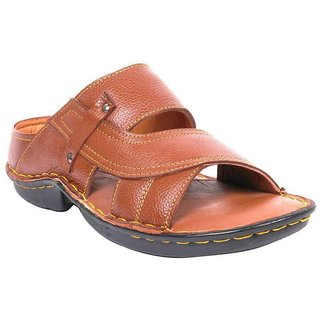 K2 Leather Men's Tan Leather Slippers (RC-02-TAN)