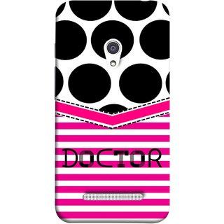 FUSON Designer Back Case Cover For Asus Zenfone 5 A501CG (Pink Design Paper Big Black Circles Bubbles Doctor Surgen)