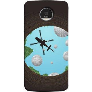 FUSON Designer Back Case Cover for Motorola Moto Z :: Motorola Moto Z Droid in USA (Military Tree Cave Trees Army White Bubbles Closeup)