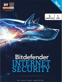BitDefender Total Security Latest Version - 5 Devices, 1 Year (Activation Key Card)