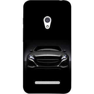 FUSON Designer Back Case Cover For Asus Zenfone 5 A501CG (Road Black White Clouds Beautiful Road Blue Side Mirror)