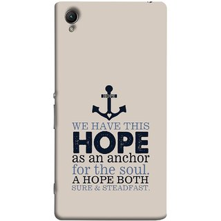 FUSON Designer Back Case Cover For Sony Xperia Z2 (5.2 Inches) (A Hope Both Sure And Steadfast Deep Sea Anchor Ship)
