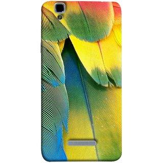 FUSON Designer Back Case Cover For YU Yureka Plus :: Yu Yureka Plus YU5510A (Birds Feathers Parrot Peacock Best Back Cover )