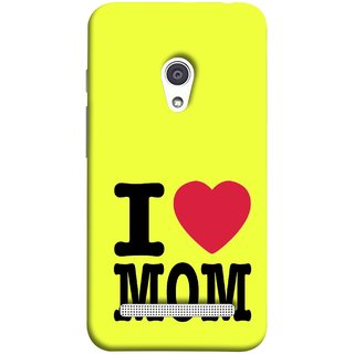 FUSON Designer Back Case Cover For Asus Zenfone 6 A600CG (Yellow Background Mother Hearts Pure And True Love)