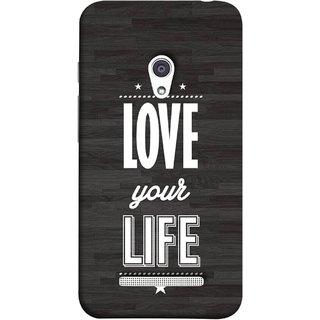 FUSON Designer Back Case Cover For Asus Zenfone 5 A501CG (Always Love Your Life Fullest For Family )