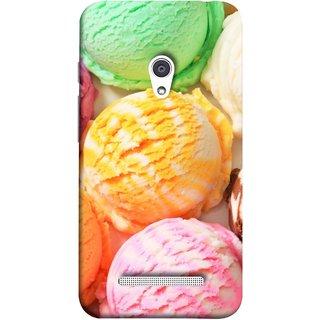 FUSON Designer Back Case Cover For Asus Zenfone 5 A501CG (Colourful Ice Cream Berry Cherry Pista Flavours )