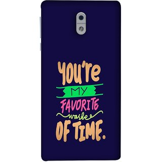 FUSON Designer Back Case Cover For Nokia 3 (Blue Background Best Friends Always Together)
