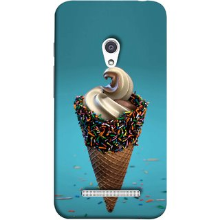 FUSON Designer Back Case Cover For Asus Zenfone 5 A501CG (Pinky Frosted Sprinkled Waffle Cone Crispy Coffee Flavour)