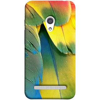 FUSON Designer Back Case Cover For Asus Zenfone 6 A600CG (Birds Feathers Parrot Peacock Best Back Cover )