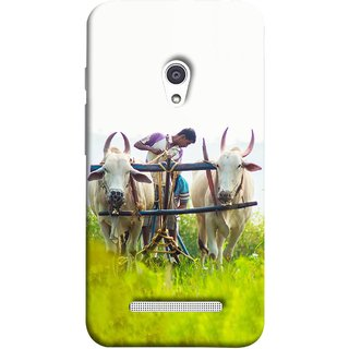 FUSON Designer Back Case Cover For Asus Zenfone 5 A501CG (Indian Farmers Crop Sowing Seeds Fresh Rice Plants )