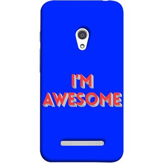 FUSON Designer Back Case Cover For Asus Zenfone 5 A501CG (I Am Lovely Wow Fact Motivational Inspirational Words)