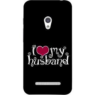 FUSON Designer Back Case Cover For Asus Zenfone 5 A501CG (Love My Family Husband Hubby Better Half Partner)