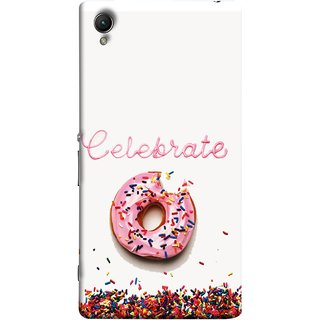 FUSON Designer Back Case Cover For Sony Xperia Z2 (5.2 Inches) (Pink Donut Eating Lots Of Jellybeans Childrens Fevourite)