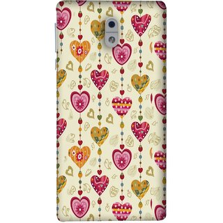 FUSON Designer Back Case Cover For Nokia 3 (Valentine Pink Metallic Cool Peace Sign Symbol Pillow)