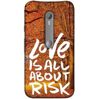 FUSON Designer Back Case Cover for Motorola Moto X Style :: Moto X Pure Edition (Trees Prem Pyar To Badi Risk Hai Very Dangerous )