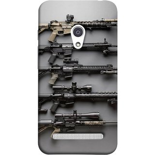 FUSON Designer Back Case Cover For Asus Zenfone 6 A600CG (Rounds Ammunition Bullets Guns Aurora Murders)