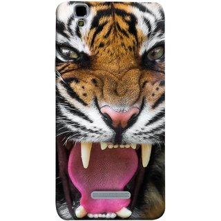 FUSON Designer Back Case Cover For YU Yureka Plus :: Yu Yureka Plus YU5510A (Jungle King Stearing Angry Roaring Loud Aslan )