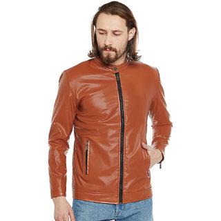 Stylogue Camel Pu Leather Jacket