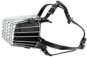Futaba Strong Metal Wire Basket Dog Muzzle For Large Dog - Black