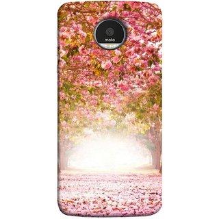 FUSON Designer Back Case Cover for Motorola Moto Z :: Motorola Moto Z Droid in USA (Best Road To Walk Flowers Fresh Sunshine Sunny Day )
