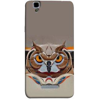 FUSON Designer Back Case Cover For YU Yureka :: YU Yureka AO5510 (Multicolour Owl Perfect Look King Bird Night Tree )